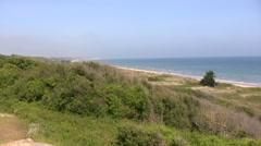 France - Normandy - Omaha Beach - stock footage