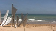 Stock Video Footage of France - Normandy - Omaha Beach