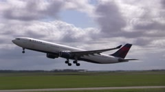 Delta taking off - stock footage