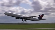 Stock Video Footage of Delta taking off