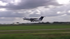 SAS cityjet taking off Stock Footage