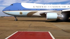 Air Force One Bringing President of the United States to Airport - stock footage