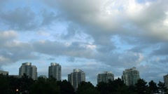 CITYSCAPE CloudsOverBuildings - stock footage