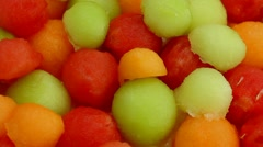 Melon Balls Rotate Close Up Stock Footage