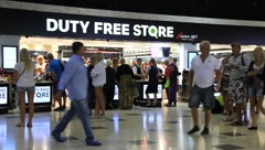 Stock Video Footage of Duty free store
