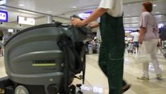 "International airport ""Borispol"". Waiting space in new terminal ""F"". - stock footage"