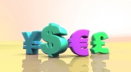 Currency warm color with alpha HD Stock Footage