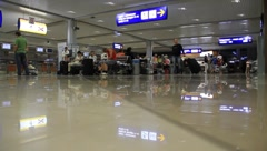 "International airport ""Borispol"". Waiting space in new terminal ""F"". Stock Footage"