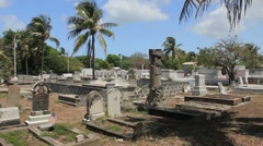 Historic Key West Cemetery 10 Stock Footage