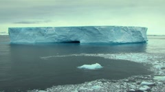 Antarctic ice and iceberg Stock Footage