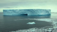 Stock Video Footage of antarctic ice and iceberg