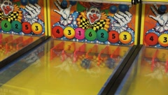 Carnival theme park games balls In slots Stock Footage