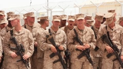 Marines (HD)c - stock footage