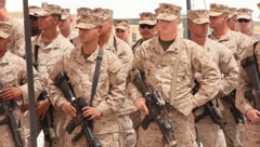 Marines(HD)c - stock footage