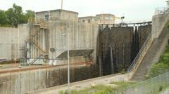 Welland canal lock gates. Stock Footage