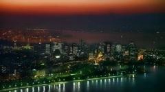 Beautiful sunset in Rio de Janeiro Brazil Full HD  1080P Stock Footage