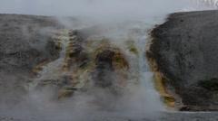 Midway Geyser Basin Falls Stock Footage