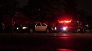 Crime Scene at Night HD Stock Footage