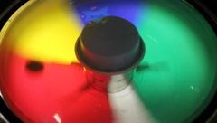 carnival theme park games spinning color wheel - stock footage