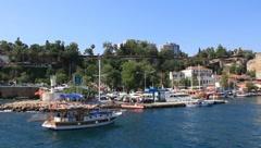 Kaleici - old town in Antalya, Turkey. Old port Stock Footage