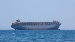 Freighter - big cargo boat Stock Footage