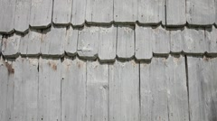 Close up of the white wood boards roof HD - stock footage