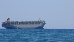 Freighter - big cargo boat - stock footage