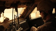 Stock Video Footage of Marine in MAT-V(MRAP) Mine Resistant Vehicle (HD)c