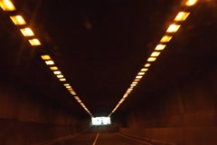 Driving in tunnel. SD. Stock Footage