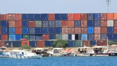 Container depot Stock Footage