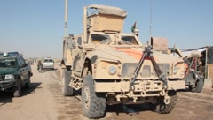 MA-TV(MRAP) Mine Resistant Vehicle (HD)m Stock Footage