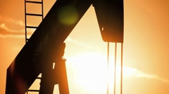 Oil Pump Jack in Close-up Stock Footage