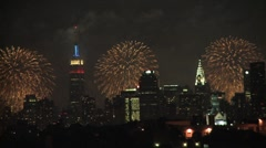NYC Fireworks 4th of July New York City Stock Footage