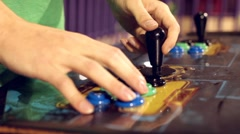 Arcade Joystick and buttons pressed Stock Footage