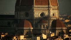 Florence Cathedral Dome Stock Footage