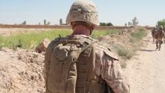 Marines Walking in Afghanistan (HD)m Stock Footage