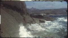 Diving with snorkel (vintage 8 mm amateur film) Stock Footage