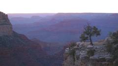 Sunset at Grand Canyon, Arizona, USA (time lapse) Stock Footage