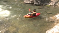 Sports and fitness, kayaker over waterfall, wild 20 foot drop! #2 Stock Footage