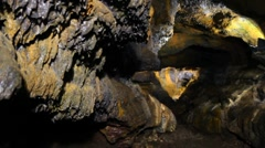 Inside a lava tube Stock Footage