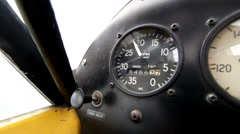 RPM gauge of Airplane whlie flying - stock footage
