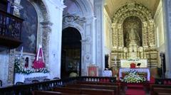 São Pedro church in Ponta Delgada Stock Footage