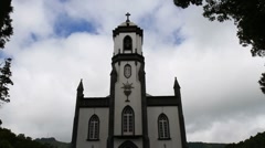 The church of Saint Nicholas, Azores Stock Footage
