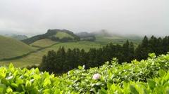 View from Pico do Carvão Stock Footage