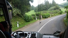 Azorean bus driving - stock footage