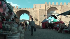 Kairouan - historic centre, Tunisia Stock Footage
