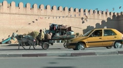Arabic Town - Kairouan - historic centre Stock Footage