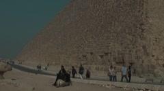 Pyramids of Giza, Egypt Stock Footage