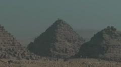 Pyramids of Giza, Cairo, Egypt Stock Footage