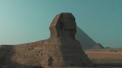 Sphinx at the pyramids around Cairo - stock footage